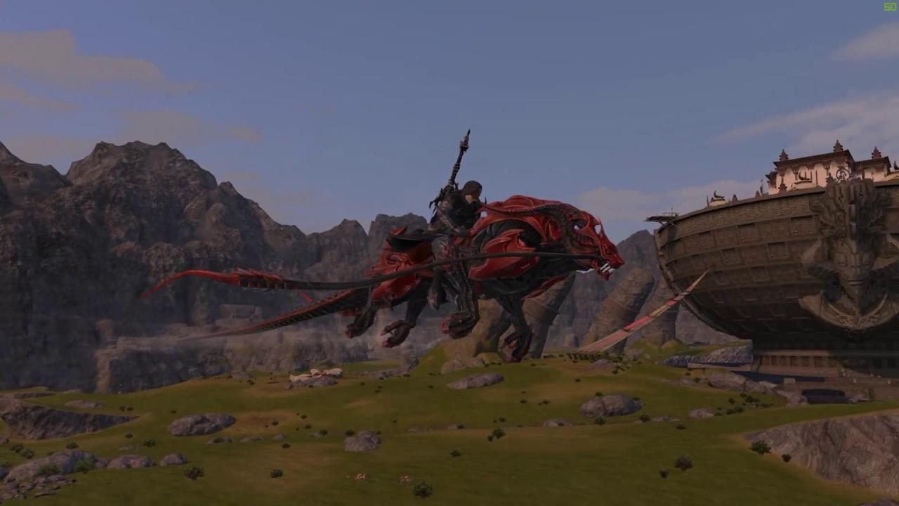 Final Fantasy XIV: Stormblood - Battle Panther (dark knight tank mount)