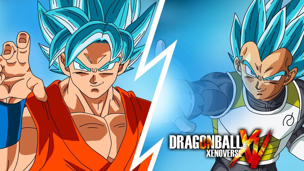 Fotos De Vegeta Color Azul: Goku Ssj Dios Azul Vs Vegeta Ssj Dios Azul