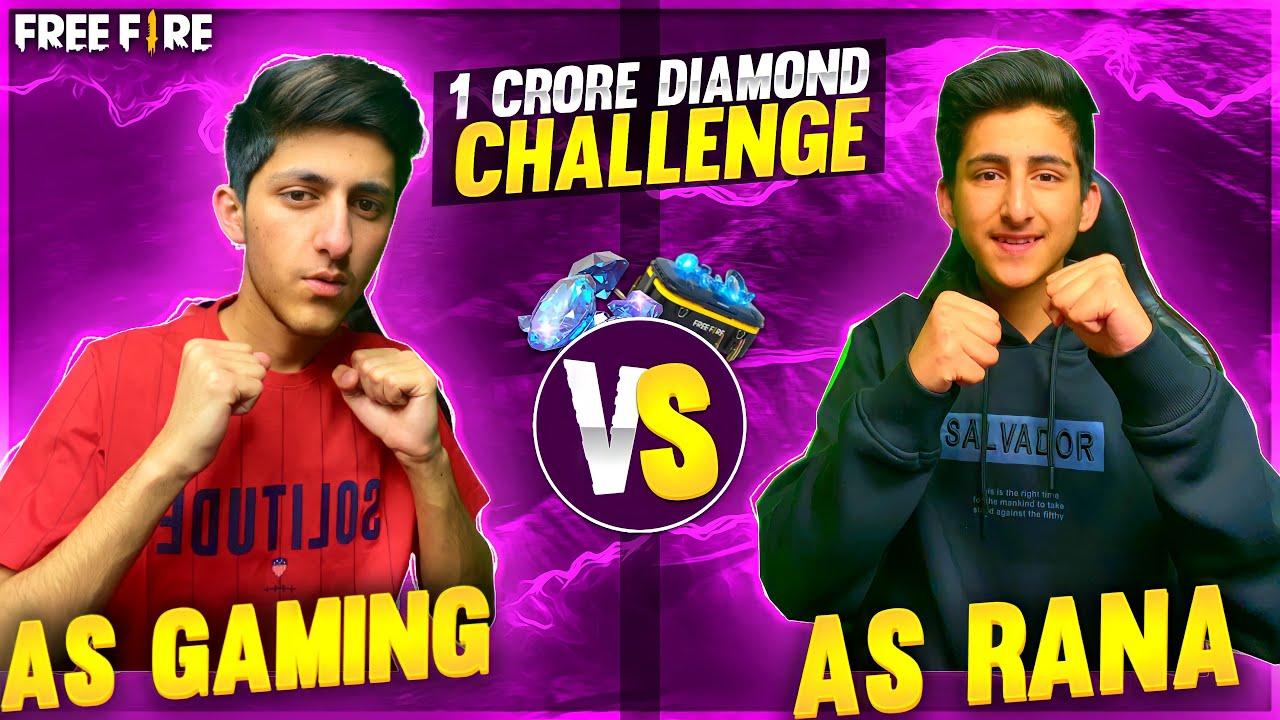 As Gaming Challenge As Rana 1v1 Winner Get 10 Million Diamond |most Crazy Seen |Gaerna Free Fire ?