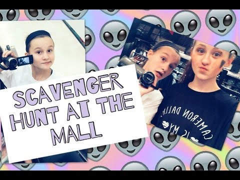 Scavenger Hunt at the Mall :)