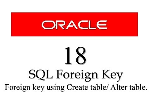 SQL tutorials 18: SQL Foreign Key Constraint