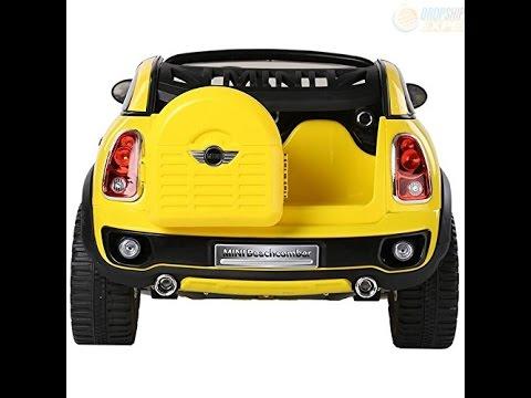 electric battery ride on car for kids mini cooper beachcomber model jj298