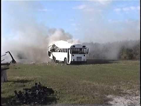 4.5 pounds of C4 destroys a bus