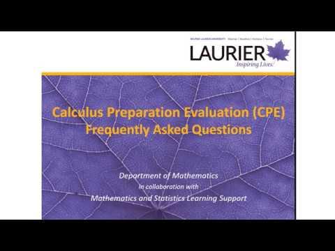 Calculus Preparation Evaluation, Course Registration Guide