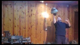 Вырывание напопа гири 48 кг (диаметр дужки 76 mm). Bottom up 48 kg kettlebell dead muscle snatch