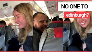 Hilarious moment a baffled airline worker realised a flight landed in Edinburgh by mistake | SWNS TV