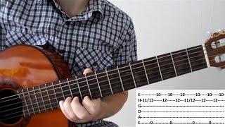 Разбор шикарного блюза на гитаре!