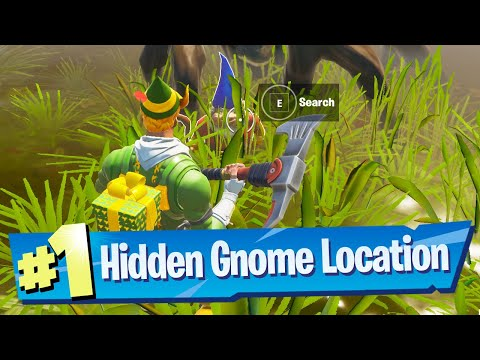 Search The Hidden Gnome Found Inbetween Logjam Woodworks, A Wooden Shack And A Bucket Tree Fortnite
