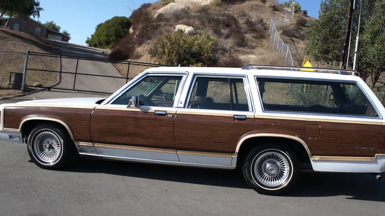 1990 Ford LTD Country Squire Station wagon.MP4 - YouTube