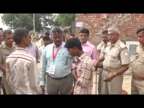 Observering Election Of Panchayat in Farrukhabad as Observer 0n 13 October 2015