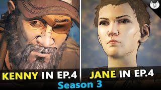 KENNY Flashback VS JANE Flashback VS ALONE  - The Walking Dead Game Season 3 Episode 4 Choices