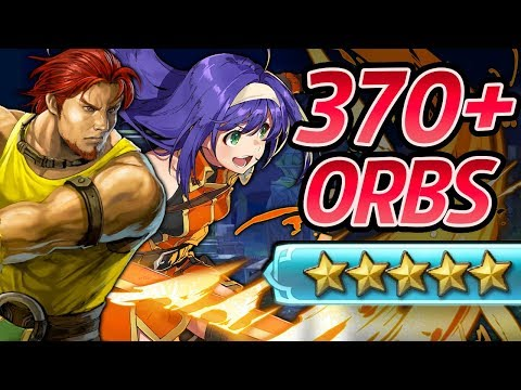 Fire Emblem Heroes - 370+ Orbs Summons: DORCAS,MIA & LUTE! (Farfetched Heroes)