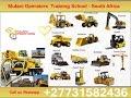 witbank/ Mpumalanga 0731582436 Training school of Excavator Mobile crane Dump Truck