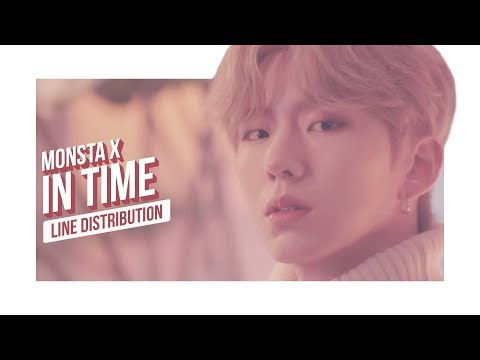 MONSTA X - In Time Line Distribution (Color Coded) | D-4 THE CONNECT