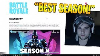 Dakotaz *REACTS* To SEASON 10 PATCH NOTES - BEST SEASON YET?! - Fortnite Best moments