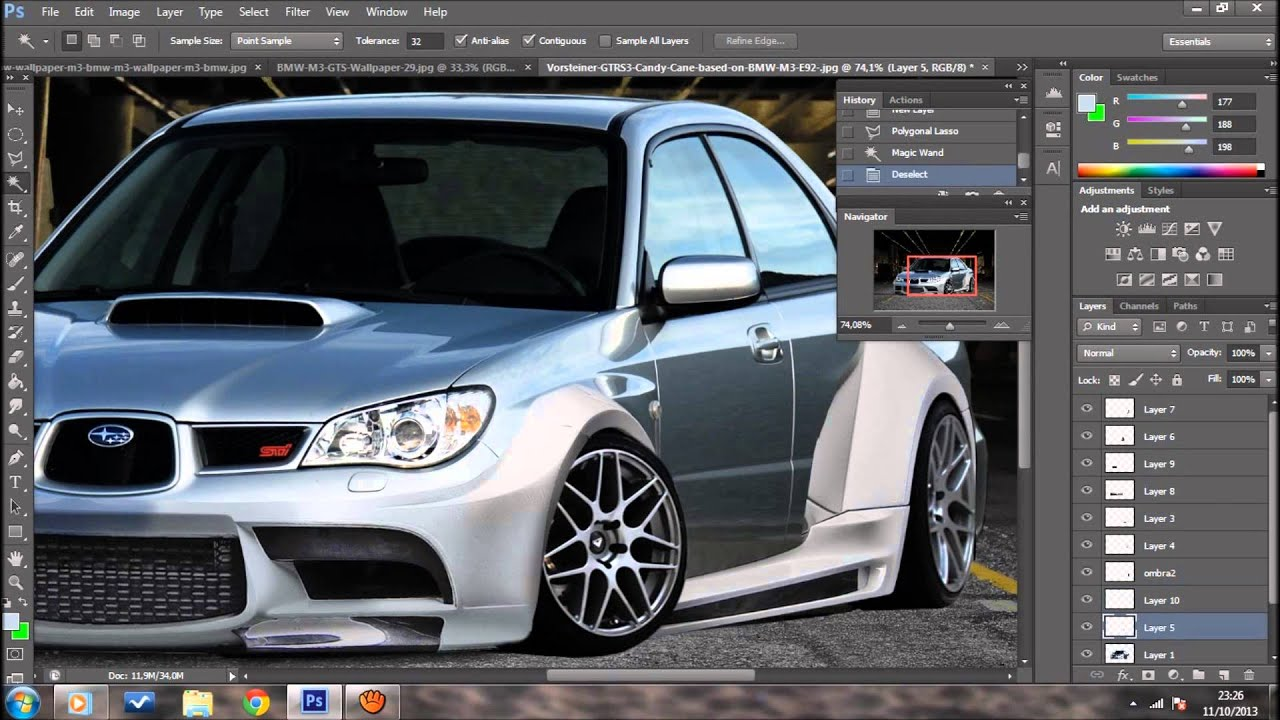 subaru impreza wrx sti 2006 virtual tuning photoshop youtube. Black Bedroom Furniture Sets. Home Design Ideas
