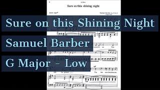 Sure on this Shining Night Piano Accompaniment Original Key Low Barber Karaoke