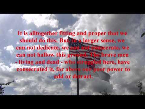 Abraham Lincoln - Gettysburg Address - 150 Jahre