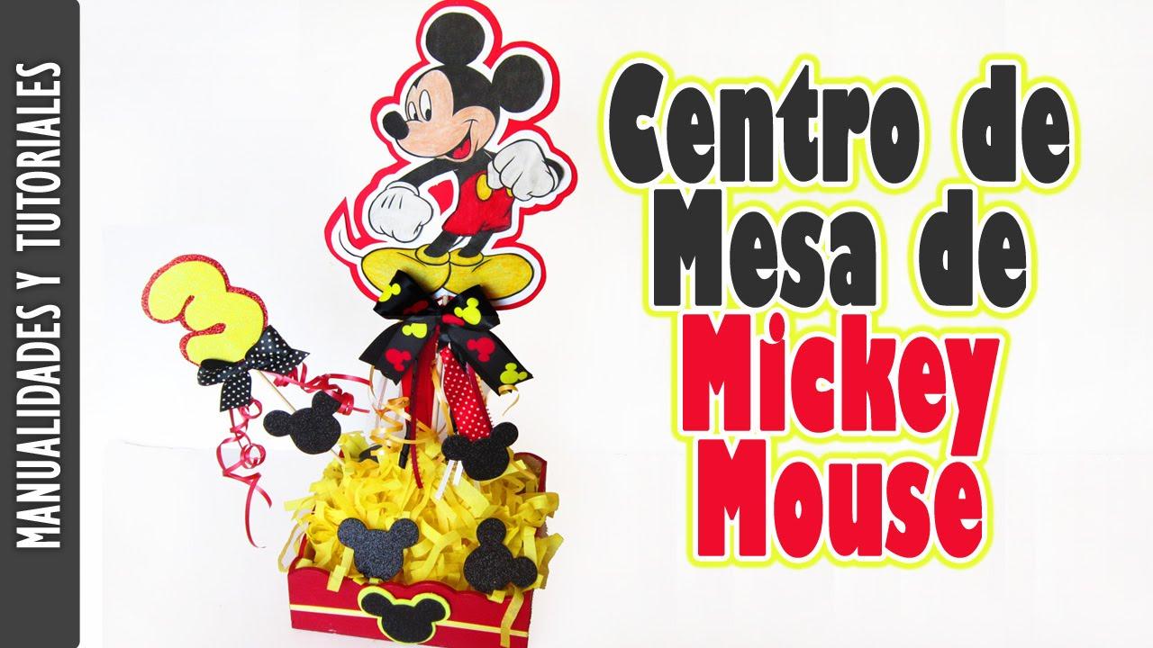 Centro de mesa de mickey mouse tutorial para fiestas - Centros de mesa para casa ...
