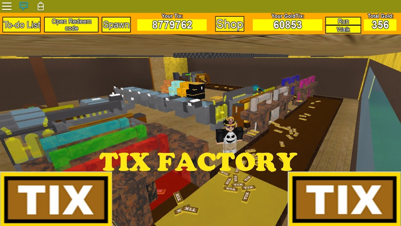 Roblox Making So Many Tix Tix Factory Tycoon Youtube
