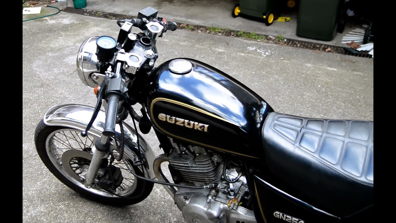 suzuki gn250 250cc cafe racer onboard camera gopro. Black Bedroom Furniture Sets. Home Design Ideas