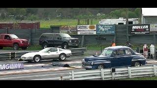 AMERICAN MUSCLE STREET CARS AT ISLAND DRAGWAY NJ USA