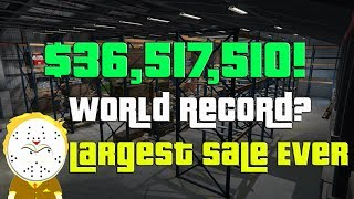 GTA Online Biggest Sale Ever $36,517,510 One Day! World Record?  Selling Everything CEO, MC