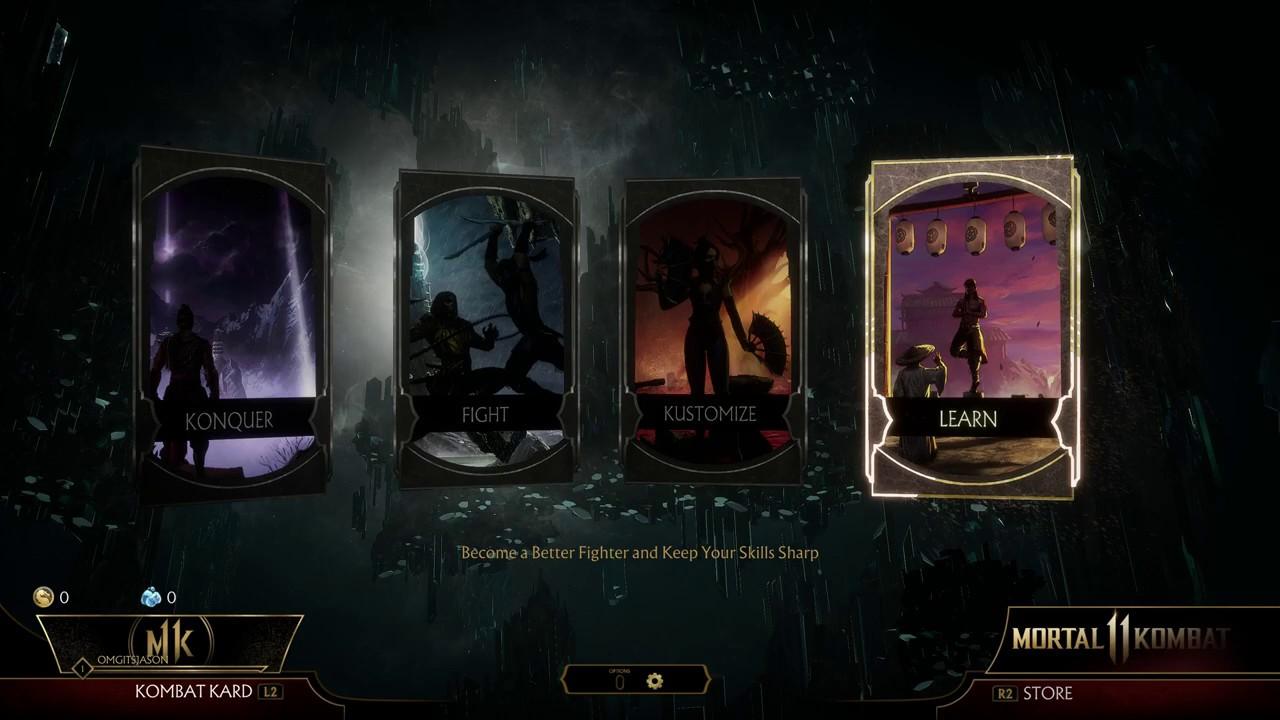 Mortal Kombat 11 - Dual Shock 4 Controls Button Schemes Preset Layouts  1,2,3 and 4 PS4 Pro (2019)