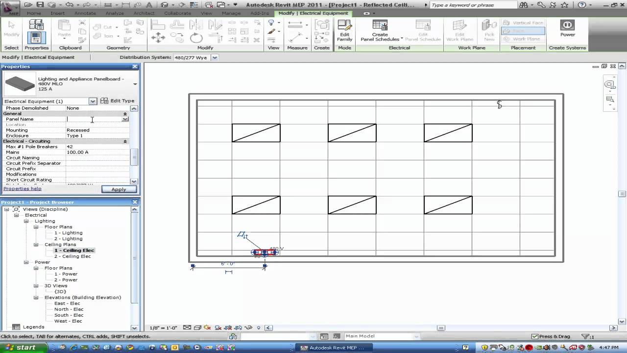 Simple Lighting Layout in Revit 2011  sc 1 st  YouTube & Simple Lighting Layout in Revit 2011 - YouTube azcodes.com
