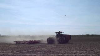 Spring Tillage with a Versatile 435 tractor and Sunflower soil finisher