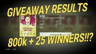 NHL 18 - GIVEAWAY RESULTS & 25 Winners!