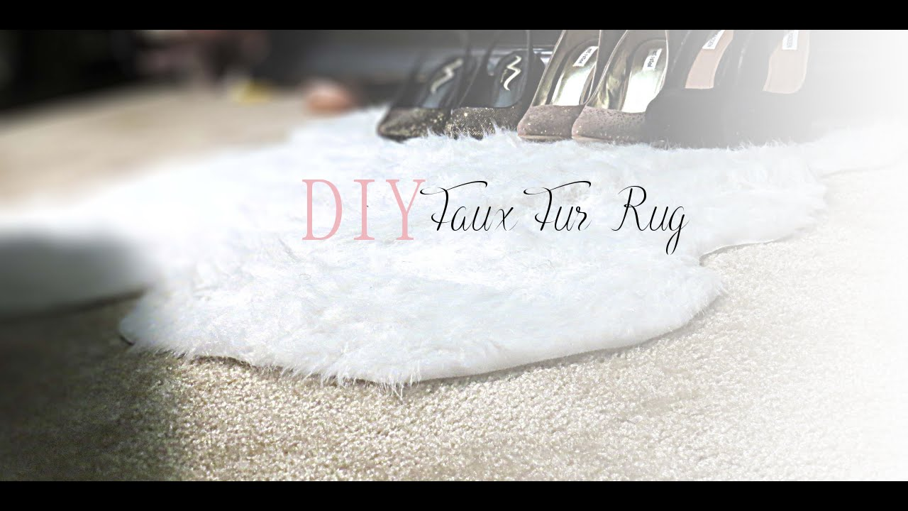 DIY Faux Fur Rug YouTube