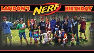 NERF WAR: LANDON'S BIRTHDAY PARTY