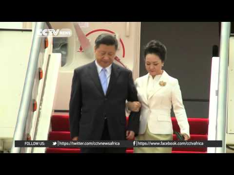 Chinese president arrives in Harare, Zimbabwe