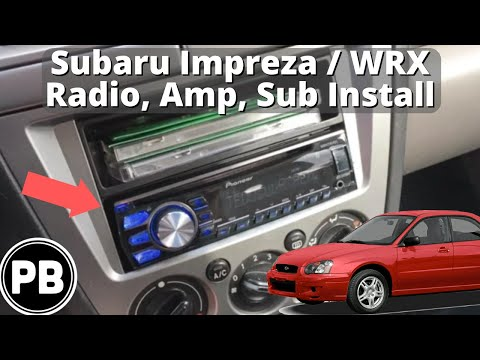 2002 - 2004 Subaru Impreza Outback Sub / Amp / Radio Install Summary