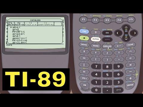 TI-89 Calculator - 01 - Overview Of The TI-89 Calculator