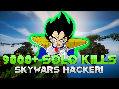OVER 9,000 SOLO KILLS + SLOW FALL HACKER! ( Hypixel Skywars )