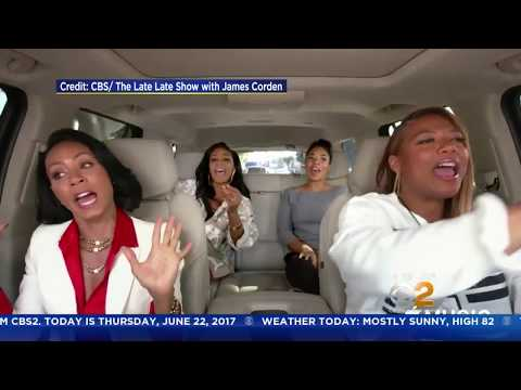 """Cast Of """"Girls Trip"""" Does Corden's Carpool Karaoke"""