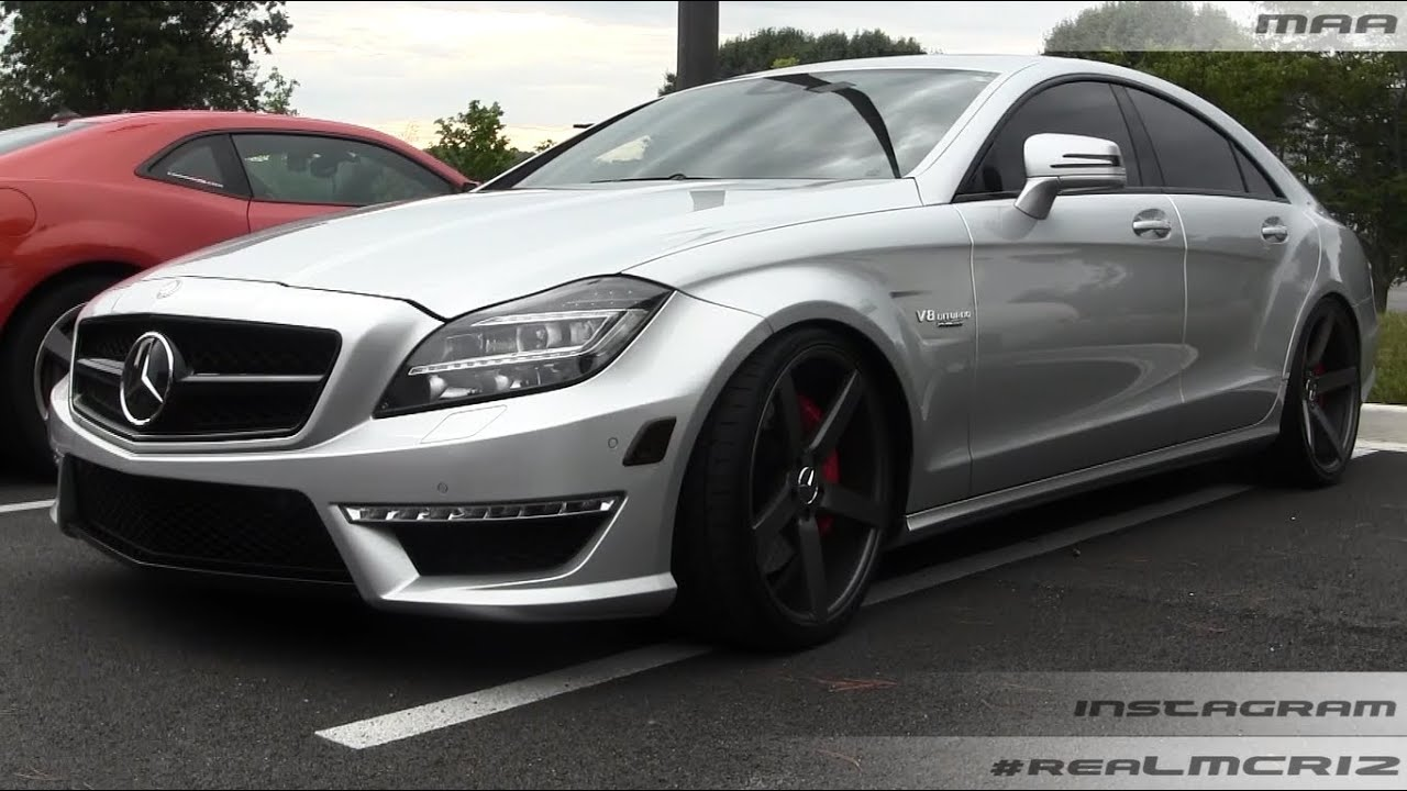 mercedes benz cls 63 amg v8 biturbo renntech on vossen wheels walkaround youtube. Black Bedroom Furniture Sets. Home Design Ideas