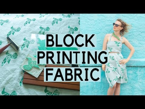 Block Printing Fabric: print your own fabric