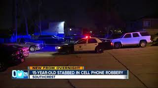 Boy stabbed, robbed of his cell phone