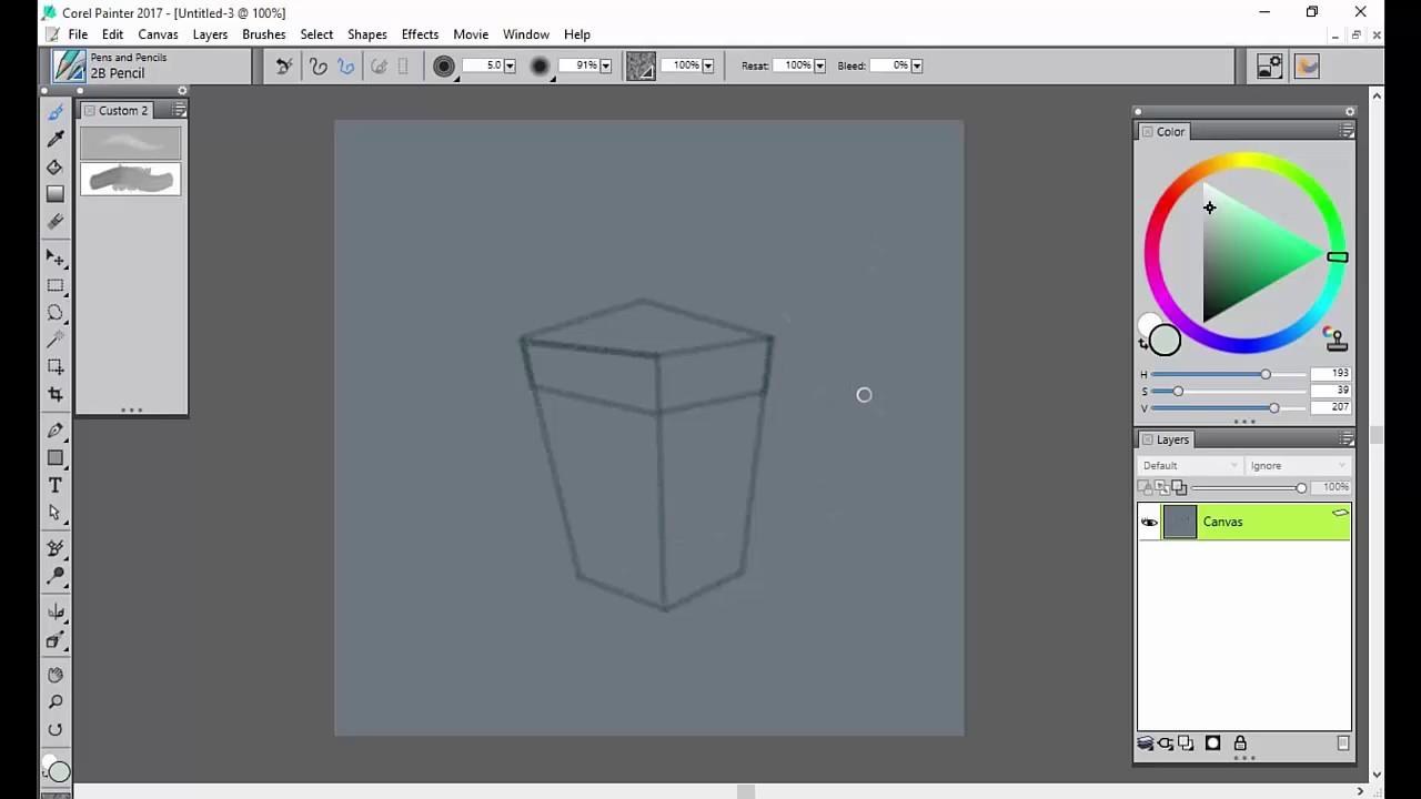 Getting started with the drawing tools in Corel Painter