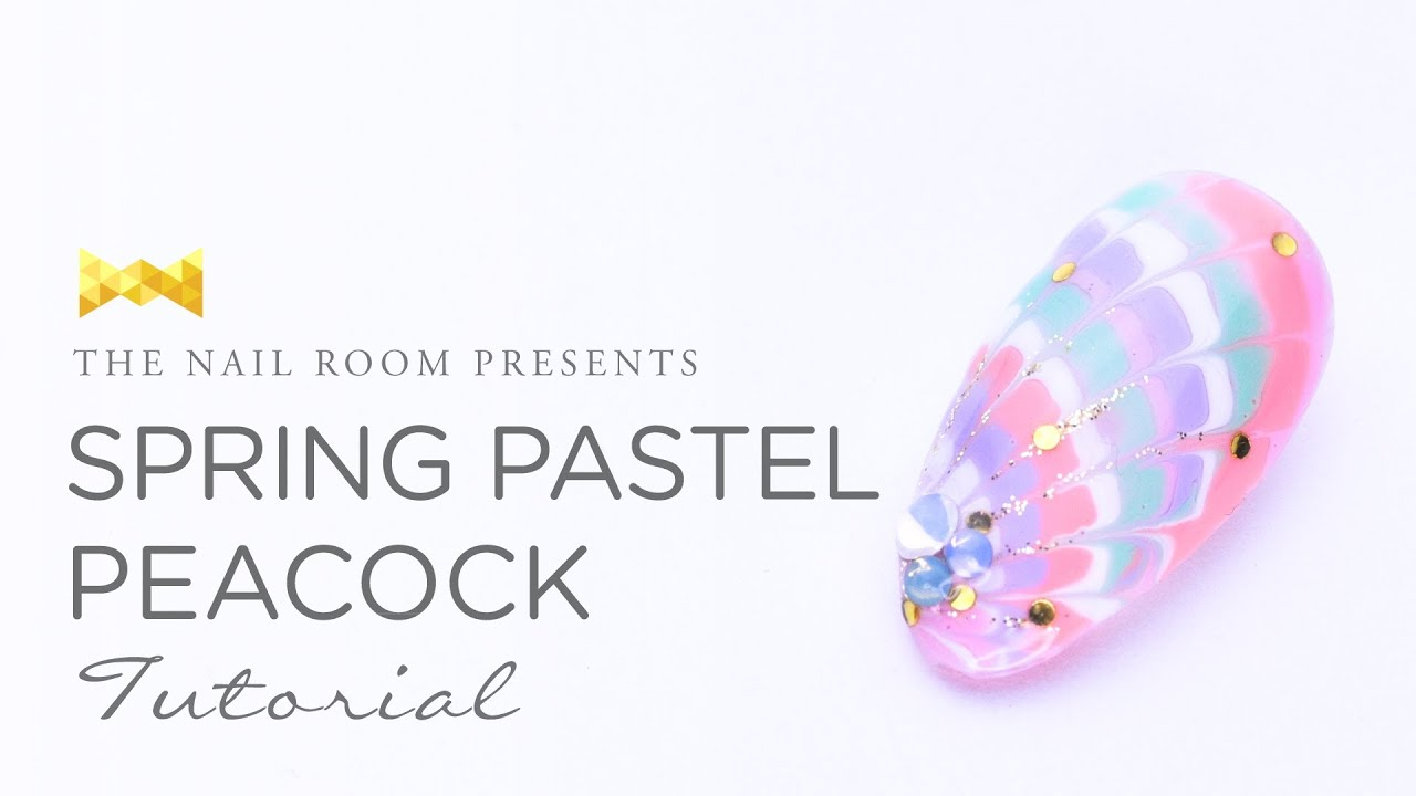 Spring Pastel Peacock Nail Art Www Neiru Me Japanese Nail Art