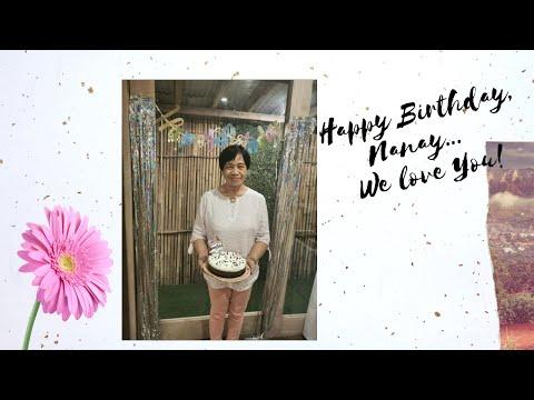 Happy Birthday, Nanay Bebie!