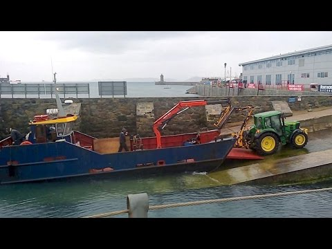 Landing Craft HERM SEAHORSE Takes a Tractor to Herm