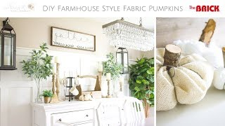 Fall DIY & Decor Challenge: How to Make your own DIY Farmhouse Style Fabric Pumpkins