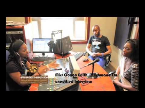 Edith Miss Congo at Tshwane FM Radio
