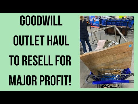 GOODWILL OUTLET CLOTHING SHOES & ACCESSORIES HAUL TO RESELL ON EBAY & POSHMARK FOR PROFIT!