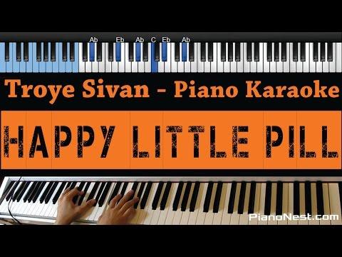 Troye Sivan - Happy Little Pill - LOWER Key (Piano Karaoke / Sing Along)