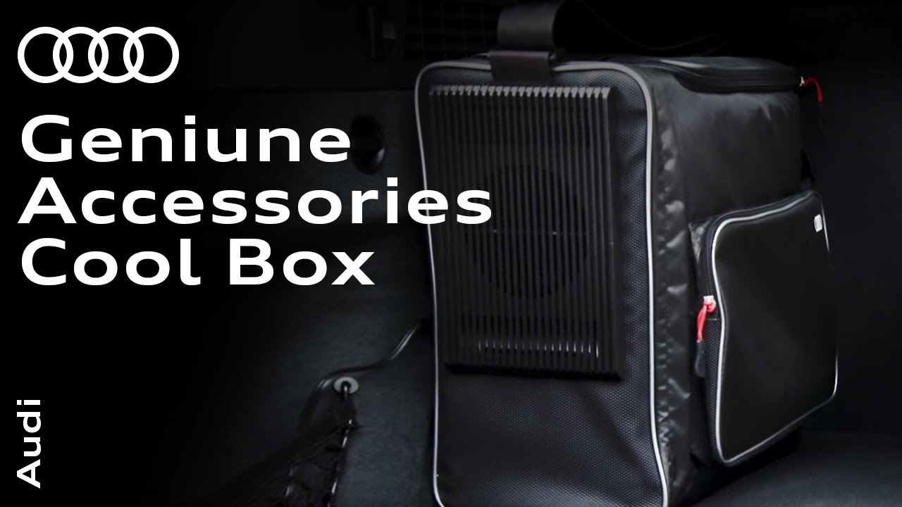 audi genuine accessories cool box youtube. Black Bedroom Furniture Sets. Home Design Ideas